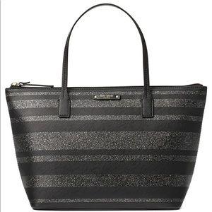 Kate Spade Shoulder Handbag Black Glitter
